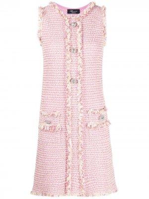 Твидовое платье Blumarine. Цвет: розовый