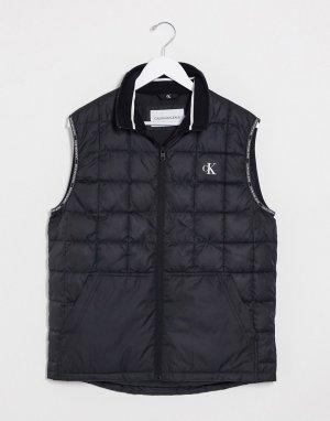 Черный дутый жилет Calvin Klein Jeans