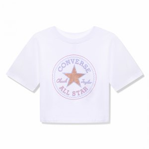 Star Faux Sequin Boxy Tee Converse. Цвет: белый