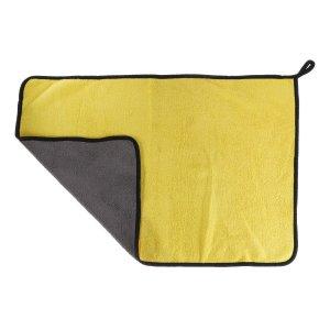Салфетка для автомобиля cartage, микрофибра, толстая, 40х60 cм, желто-серая Cartage