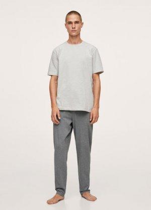 Комплект пижама из органического хлопка - Calella Mango. Цвет: серый