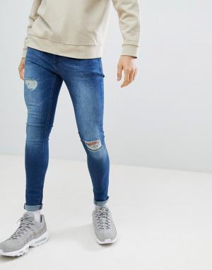 Темно-синие джинсы скинни -Синий Criminal Damage