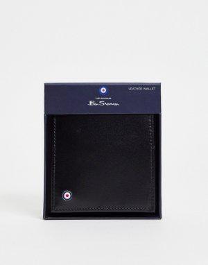 Складной кожаный бумажник черного цвета -Черный Ben Sherman