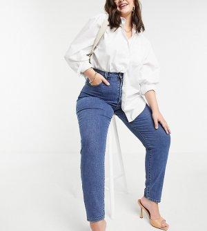 Синие прямые джинсы с завышенной талией Nora-Синий Dr Denim Plus