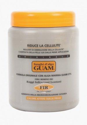Маска для тела Guam антицеллюлитная, разогревающая, с микрокристаллами Турмалина, Линия FIR, 1000 г. Цвет: прозрачный