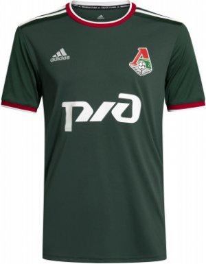 Домашняя футболка ФК Локомотив мужская, adidas, размер 52-54 Adidas. Цвет: зеленый