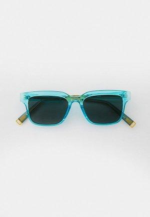 Очки солнцезащитные Bocciolo. Цвет: голубой