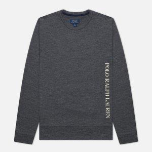 Мужской лонгслив Printed Branding Crew Neck Polo Ralph Lauren. Цвет: серый
