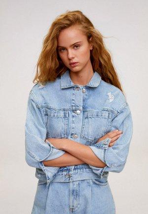 Куртка джинсовая Mango - FIONA. Цвет: голубой
