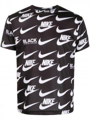 Футболка с принтом из коллаборации Nike Black Comme Des Garçons. Цвет: черный