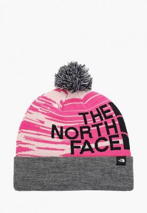 Шапка The North Face Y SKI TUKE. Цвет: розовый