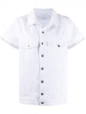 Джинсовая куртка с короткими рукавами IRO. Цвет: белый