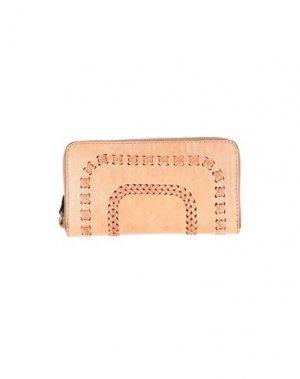 Бумажник CAMPOMAGGI. Цвет: телесный