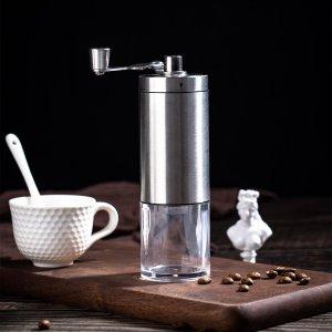 1шт Кофемолка ручной SHEIN. Цвет: серебряные