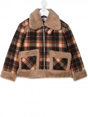 Yago plaid-check jacket Raspberry Plum. Цвет: коричневый