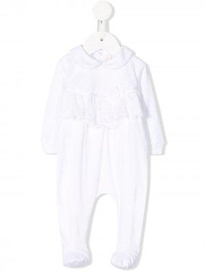 Lace trim pajamas Aletta. Цвет: белый