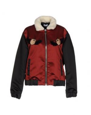 Куртка AU JOUR LE. Цвет: красно-коричневый