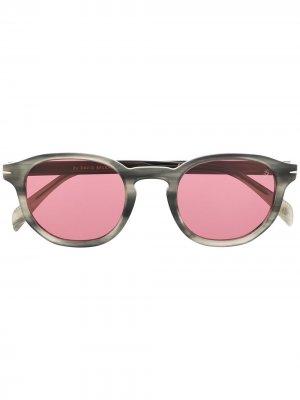 Солнцезащитные очки DB 1007/S в оправе панто Eyewear by David Beckham. Цвет: серый