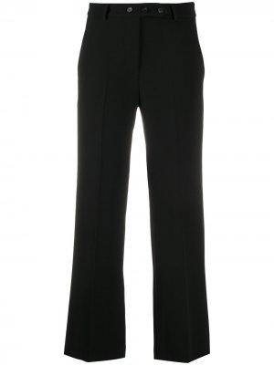 Строгие брюки прямого кроя Alysi. Цвет: черный