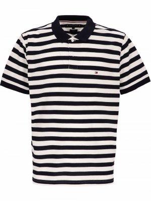 Рубашка поло кроя слим в полоску Tommy Hilfiger. Цвет: 0a4