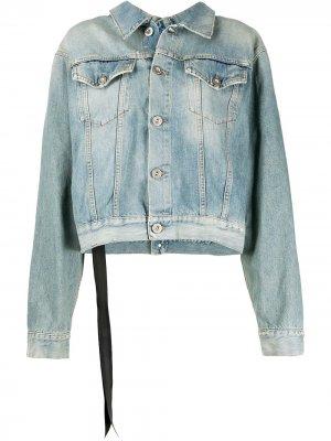 Джинсовая куртка с эффектом потертости UNRAVEL PROJECT. Цвет: синий