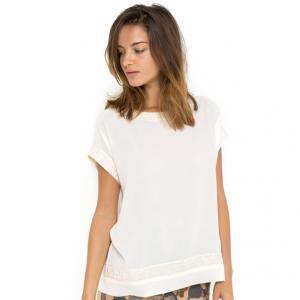 Блузка FAFY с вышивкой и короткими рукавами GAT RIMON. Цвет: черный