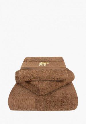 Набор полотенец Bellehome Safari. Цвет: коричневый