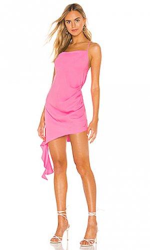 Платье solange Amanda Uprichard. Цвет: розовый