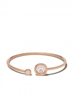 Браслет Happy Spirit из розового и белого золота с бриллиантами Chopard. Цвет: розовый