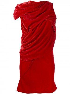 Платье-туника с узлом Rick Owens. Цвет: красный
