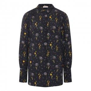 Рубашка из вискозы и шелка By Malene Birger. Цвет: чёрный