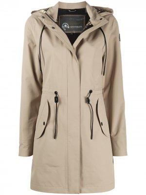 Пальто с капюшоном и застежкой тогл Moose Knuckles. Цвет: нейтральные цвета
