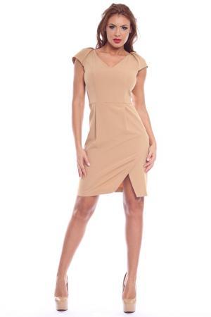 Платье Collezione di Ines. Цвет: бежевый