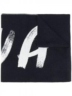 Широкий шарф с логотипом Nina Ricci. Цвет: синий