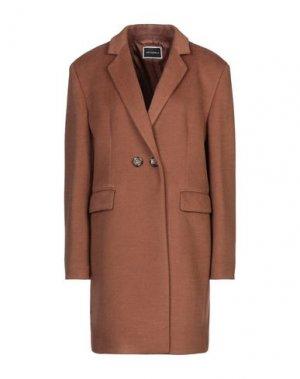 Пальто ANIMAGEMELLA. Цвет: коричневый