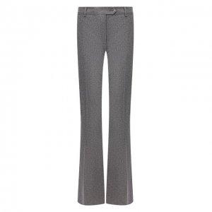 Расклешенные шерстяные брюки со стрелками Kiton. Цвет: серый