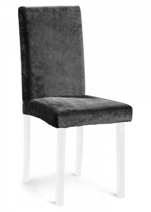 Чехол на стул из искусственного бархата bonprix. Цвет: черный