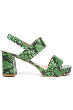 Туфли Alba. Цвет: зеленый