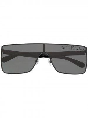 Массивные солнцезащитные очки Stella McCartney Eyewear. Цвет: черный