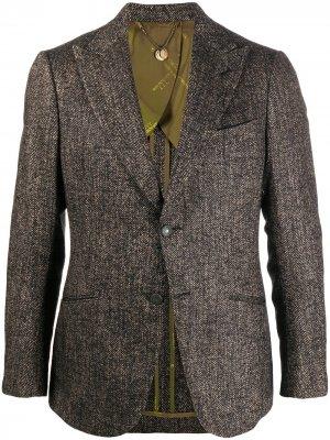 Твидовый пиджак Maurizio Miri. Цвет: коричневый