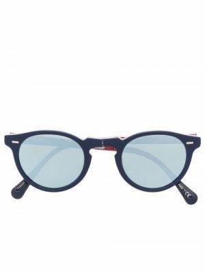 Солнцезащитные очки Gregory Peck Oliver Peoples. Цвет: синий