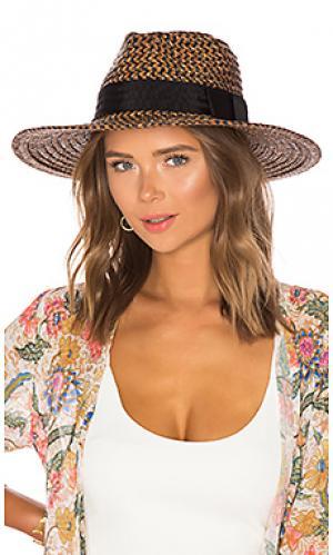 Шляпа joanna Brixton. Цвет: коричневый