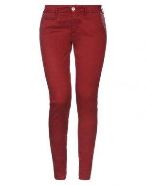 Повседневные брюки MAISON CLOCHARD. Цвет: кирпично-красный