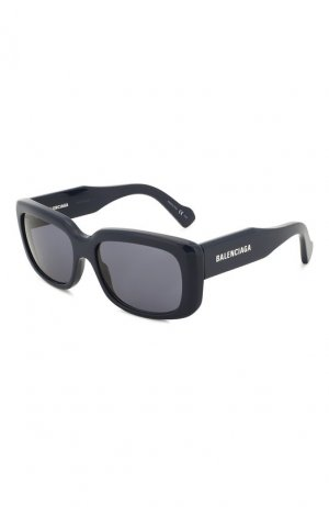 Солнцезащитные очки Balenciaga. Цвет: темно-синий