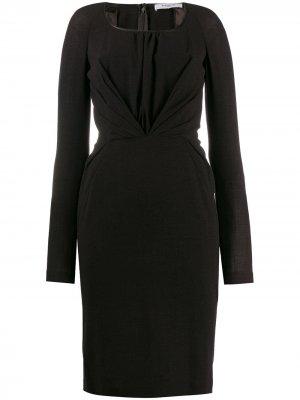 Платье миди 2000-х годов с драпировкой Givenchy Pre-Owned. Цвет: коричневый