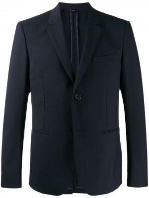 Пиджак кроя слим с заостренными лацканами Fendi. Цвет: синий