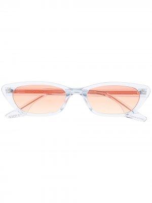 Солнцезащитные очки в прямоугольной оправе Gentle Monster. Цвет: синий