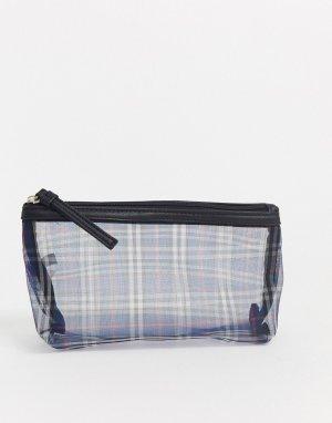 Клатч-кошелек из полупрозрачной сеточки в клетку -Мульти Ichi