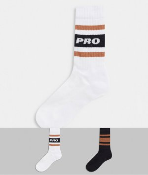 Спортивные носки с надписью pro -Мульти ASOS DESIGN