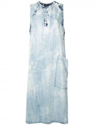 Ys джинсовое платье-трапеция Y's. Цвет: синий